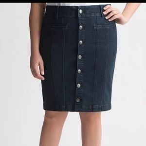 Lane Bryant Tighter Tummy Technology Jean Skirt